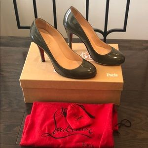 Christian Louboutin patent Ron Ron heels shoes